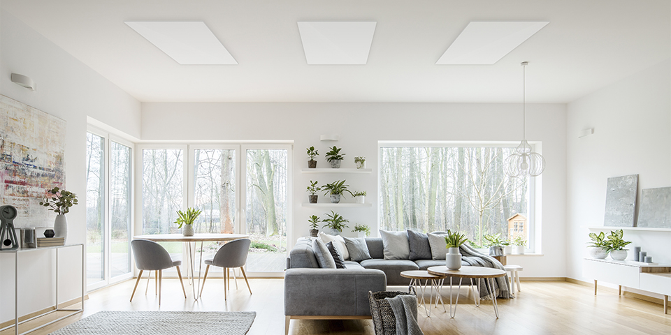 Infrared-ceiling-panel-inliving-room